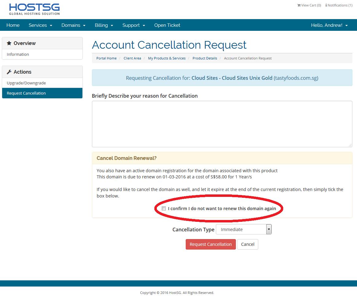 Domain Cancellation